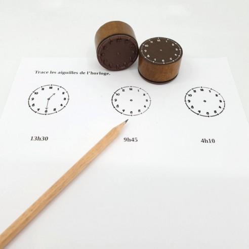 Le tampon horloge